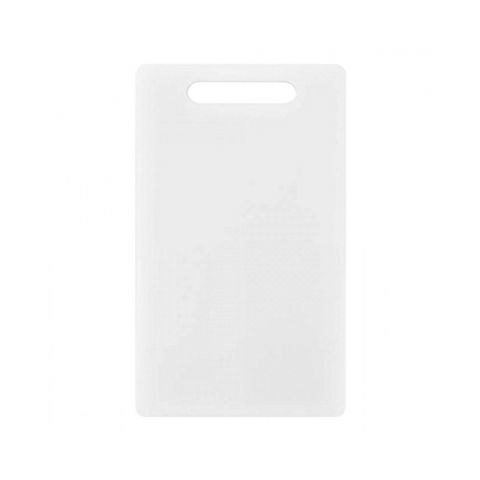 Chef's Thick Small 25cm White Plastic Chopping Cutting Board